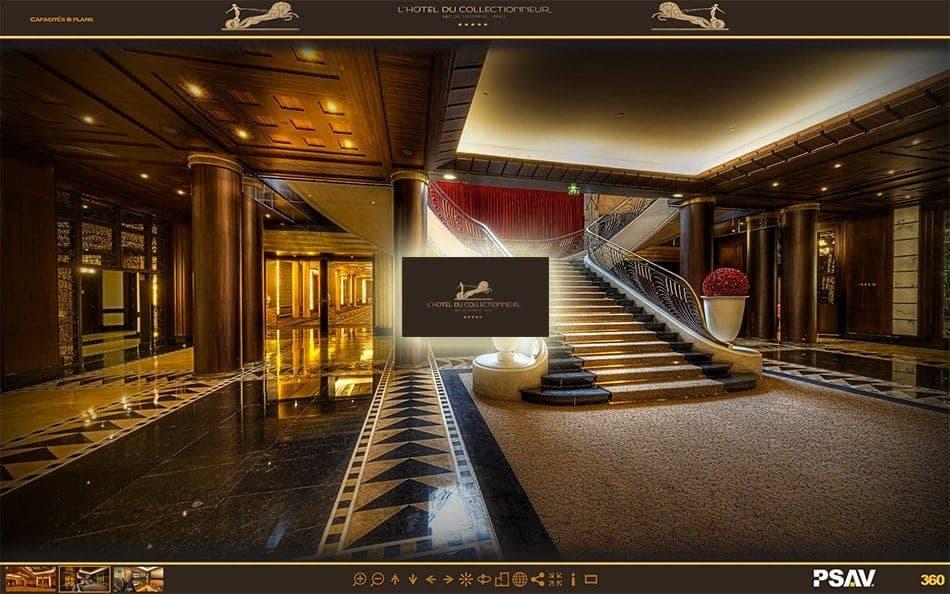 visite virtuelle hotel du collectionneur