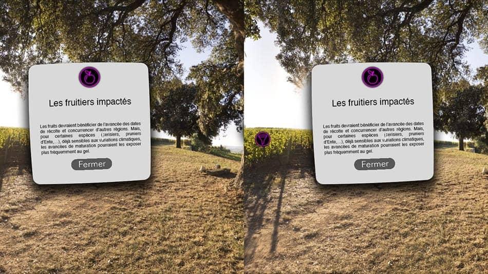 visite virtuelle pour exposition en cardboard