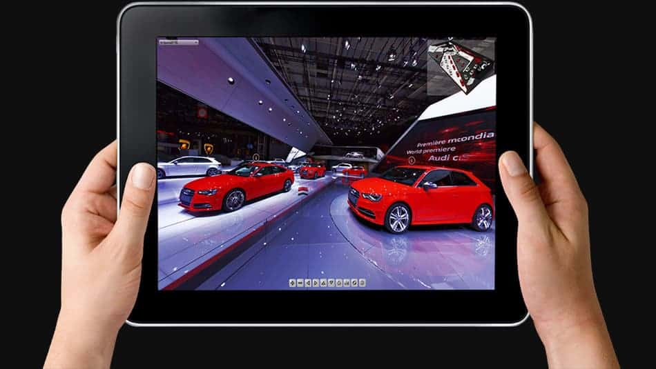 visite virtuelle du stand Audi au mondial de l'automobile